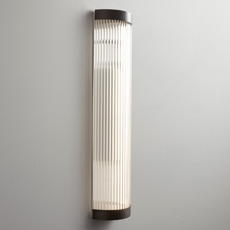 Davey Lighting Wide Pillar 60 Led Wall Light Weathered Brass On