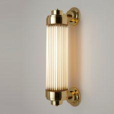 Davey Lighting Pillar Offset Led Wall Light Polished Brass B On D