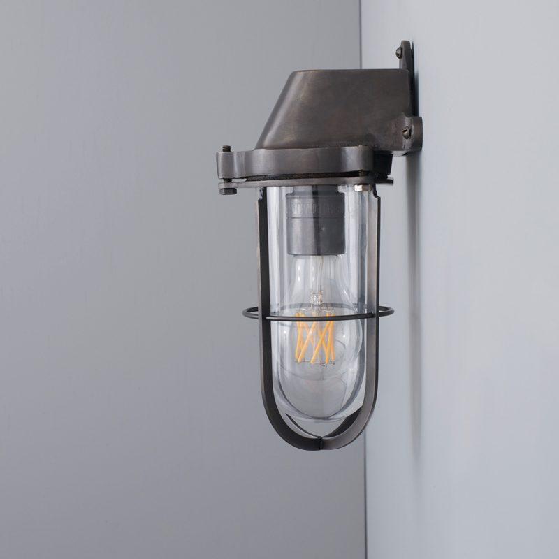 Davey Lighting Weatherproof Ship's Wall Light Clear Glass