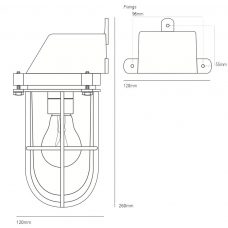 Davey Lighting Weatherproof Ship's Wall Light Line Drawing