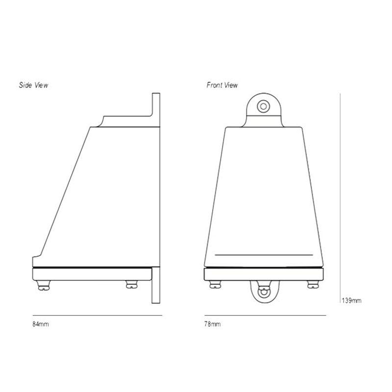 Davey Lighting Mast 0749 Wall Light Line Drawing