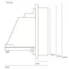 Davey Lighting Mast 0750 Wall Light Line Drawing