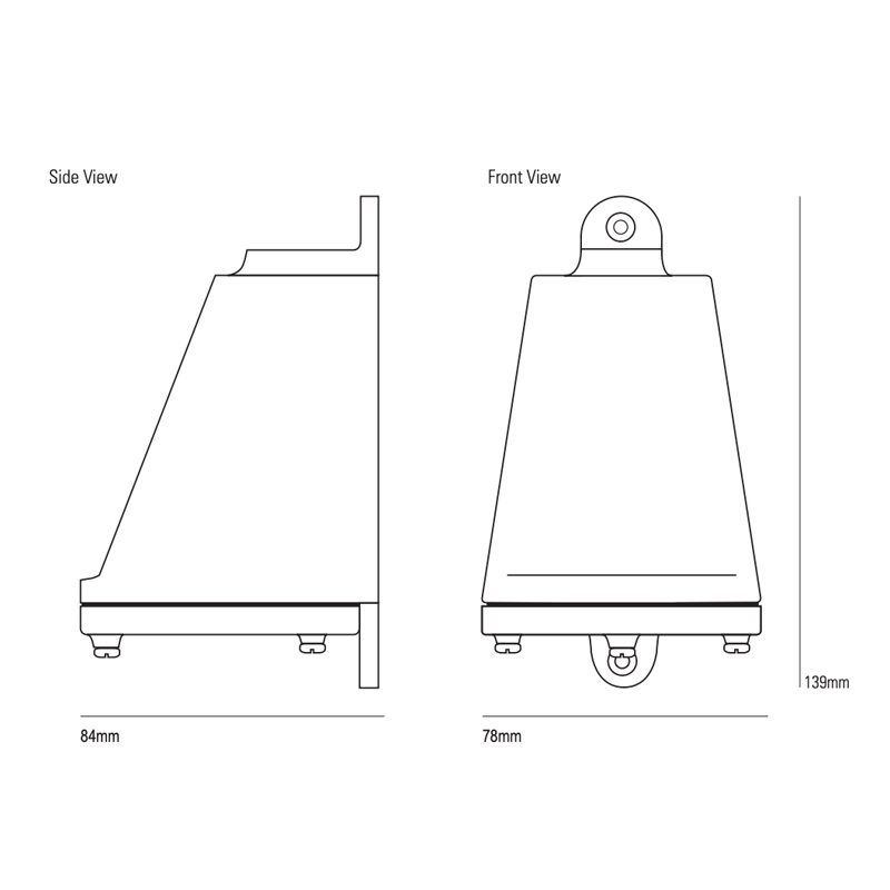 Davey Lighting Mast 0751 Wall Light Line Drawing