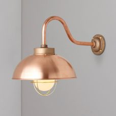 Davey Lighting Shipyard Wall Copper Frosted On