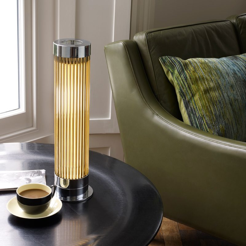 Davey Lighting Pillar Table Lamp Chrome B