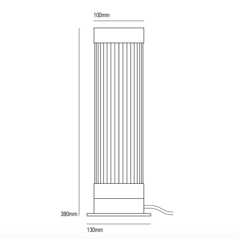 Davey Lighting Pillar Table Lamp Line Drawing