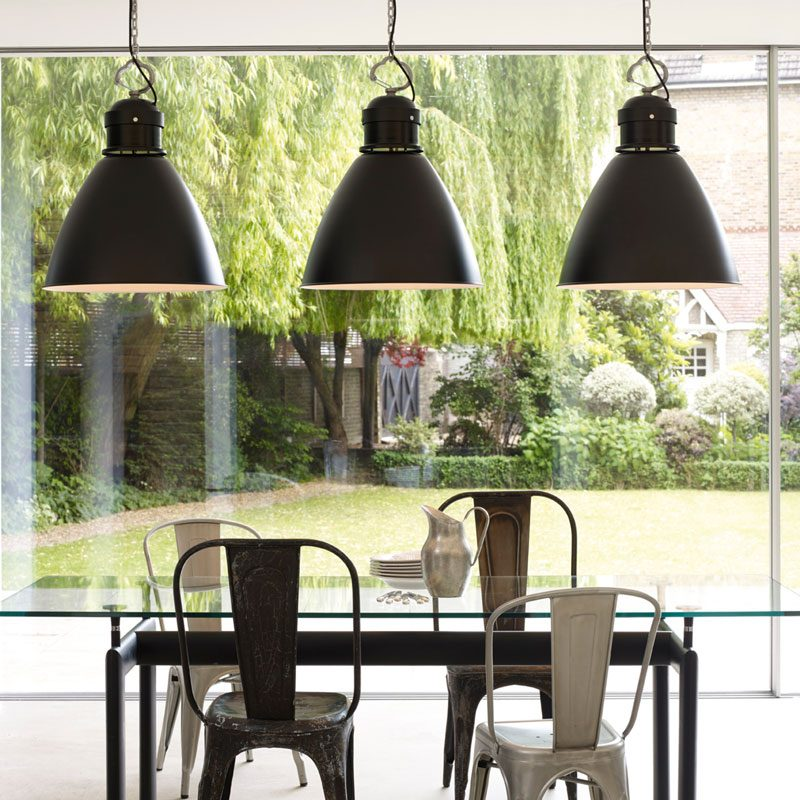 Davey Lighting 7380 Large Pendant Light Black B