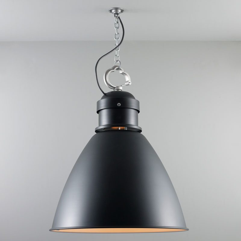 Davey Lighting 7380 Large Pendant Light Black On