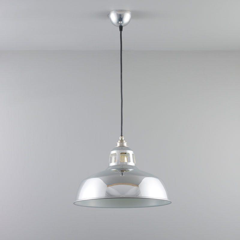 Davey Lighting Aluminium Punch Pendant Light Off