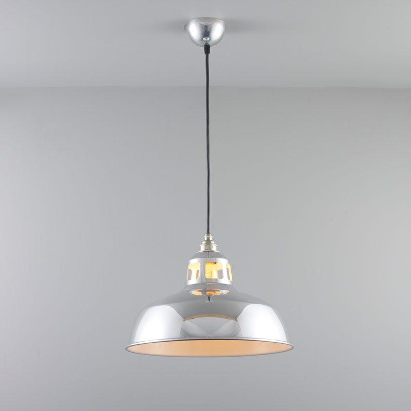 Davey Lighting Aluminium Punch Pendant Light On