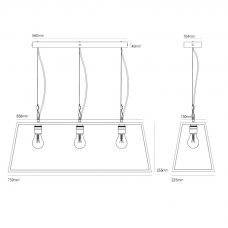 Davey Lighting Diner 75 Pendant Light Line Drawing