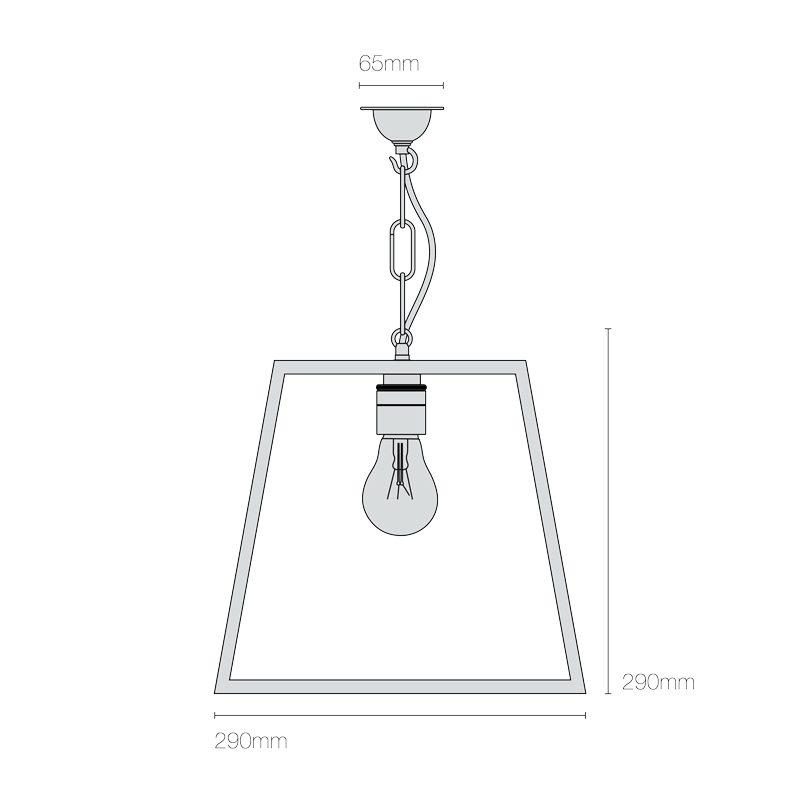 Davey Lighting Quad Medium Pendant Light Line Drawing