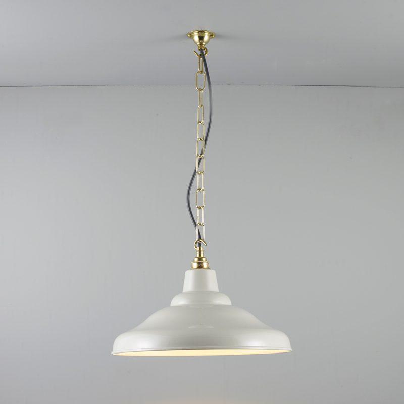 Davey Lighting School Pendant Light Putty Grey