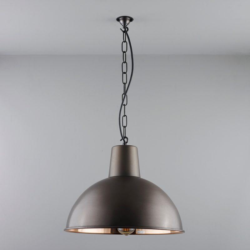 Davey Lighting Spun Reflector Medium Pendant Light Weathered Copper B