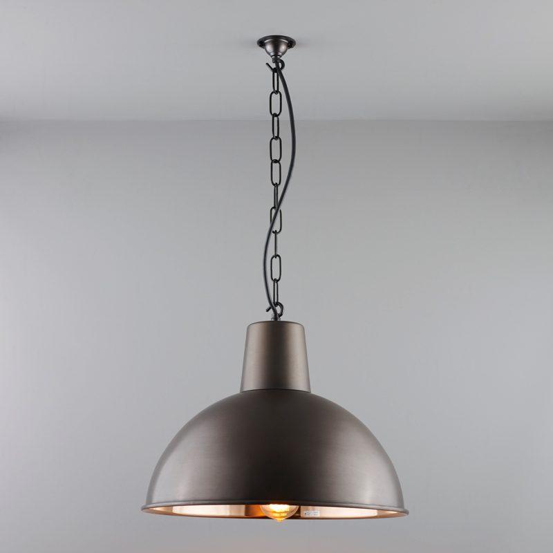 Davey Lighting Spun Reflector Medium Pendant Light Weathered Copper