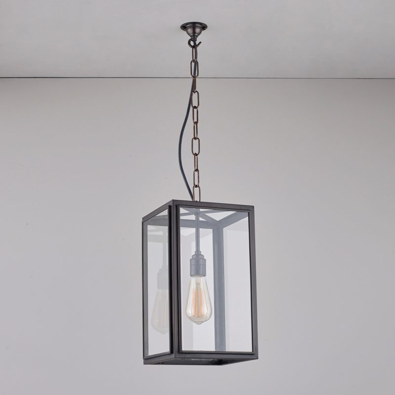 Davey Lighting Square Small Light Clear Glass C