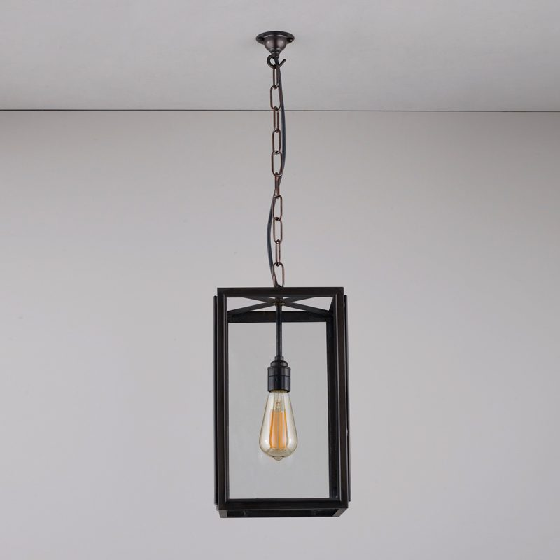 Davey Lighting Square Small Light Clear Glass