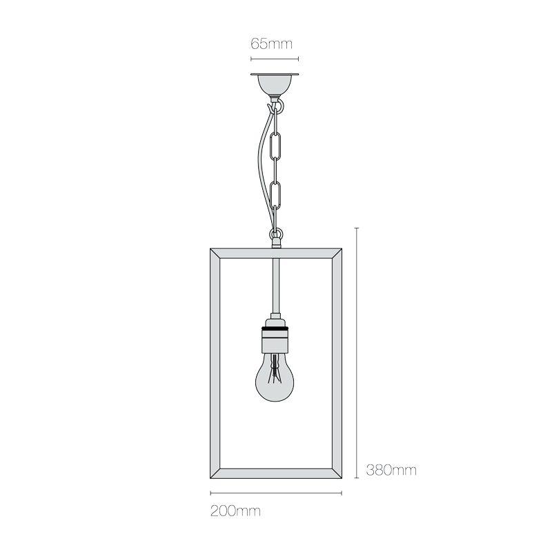 Davey Lighting Square Small Light Line Drawing