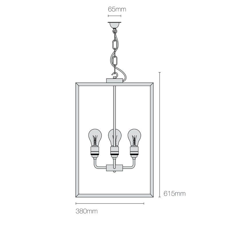 Davey Lighting Square Xl Ip Light Line Drawing