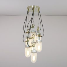 Davey Lighting Well Glass 7 Grouping Pendant Light