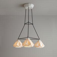 Original Btc Hatton 1 Grouping Of 3 Triangular Pendant Light
