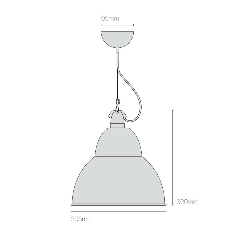 Original Btc Bb1 Pendant Lamp Line Drawing