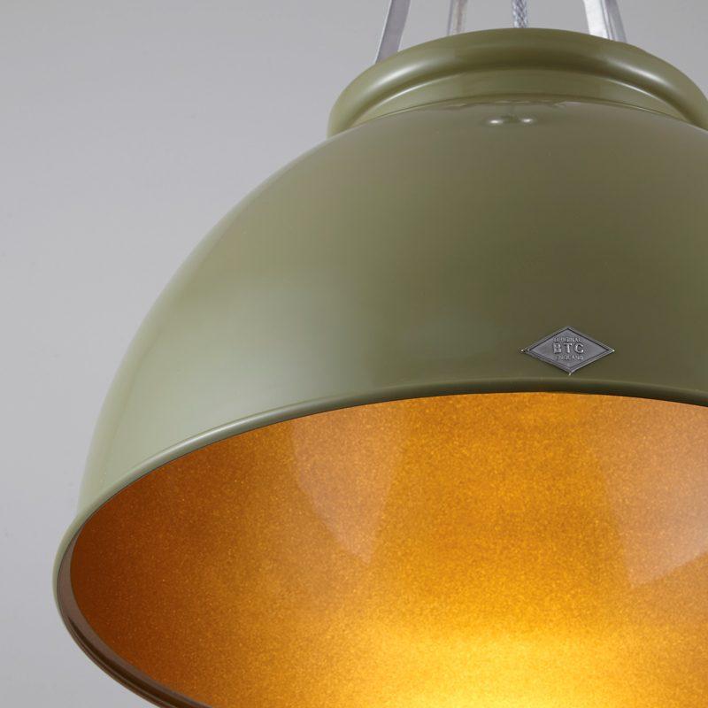 Original Btc Titan 3 Pendant Light Olive Green Bronze B