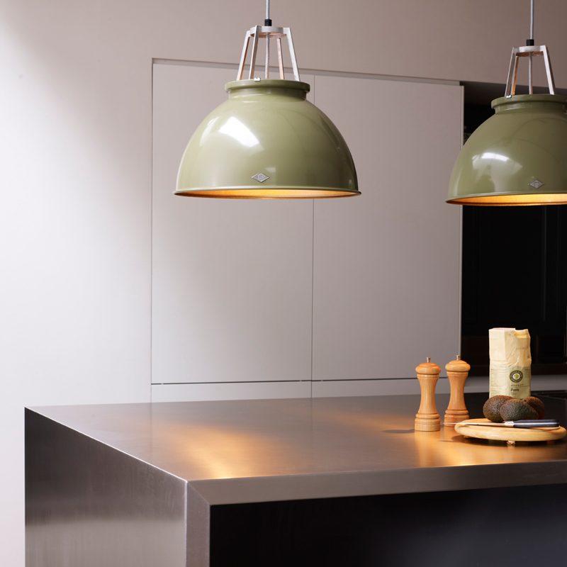 Original Btc Titan 3 Pendant Light Olive Green Bronze C