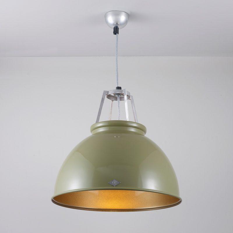 Original Btc Titan 3 Pendant Light Olive Green Bronze On