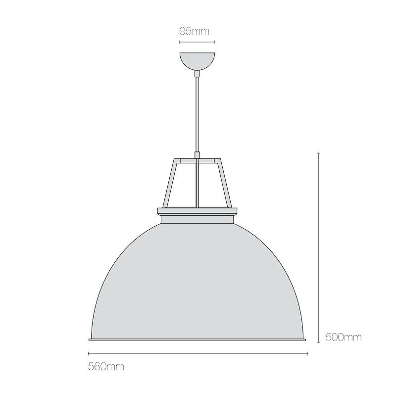 Original Btc Titan 5 Pendant Light Line Drawing