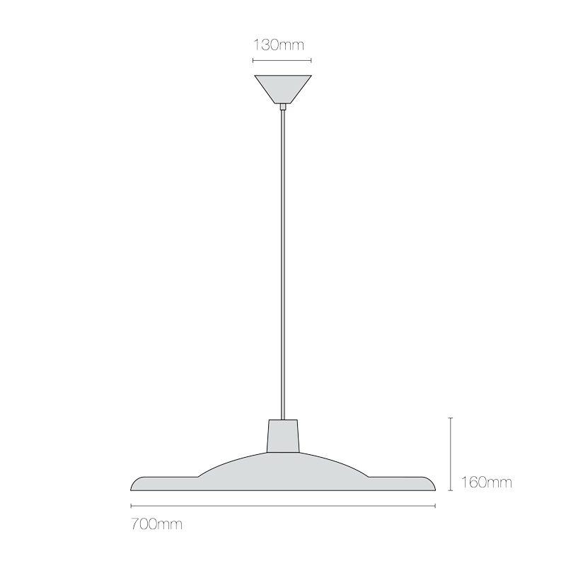Original Btc 700 Pendant Light Line Drawing