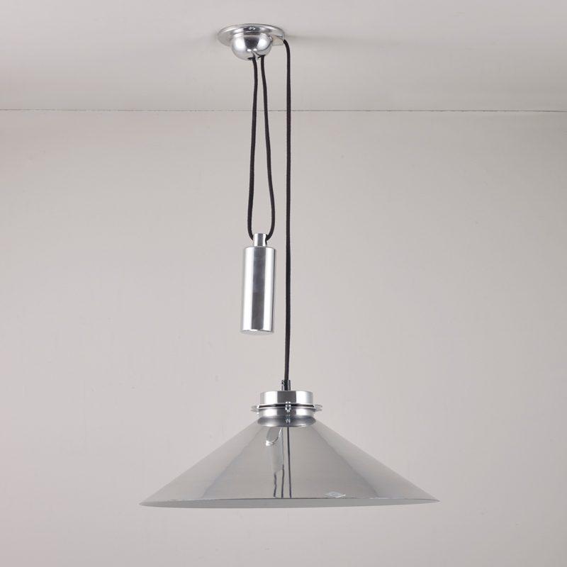 Original Btc Codie Rise & Fall Pendant Light Aluminium Off