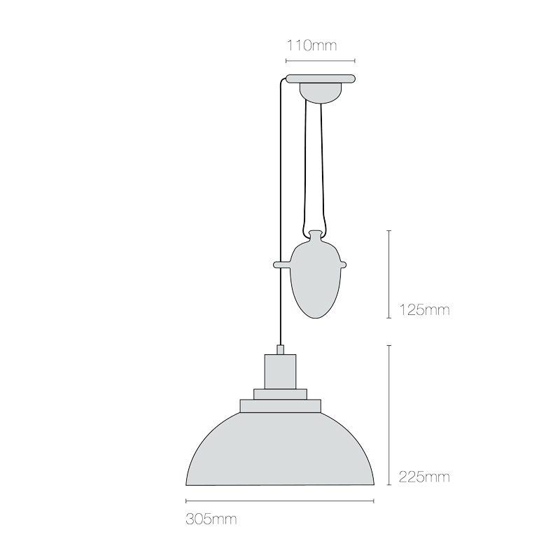 Original Btc Cosmo Rise & Fall Pendant Light Line Drawing