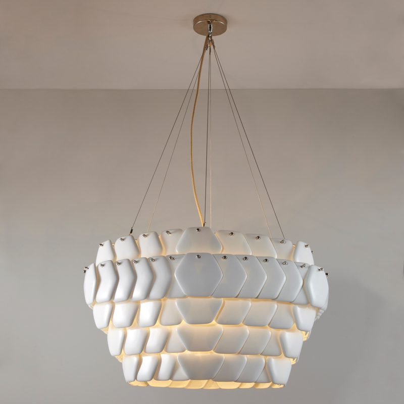 Original Btc Cranton Hexagonal Pendant Light White On