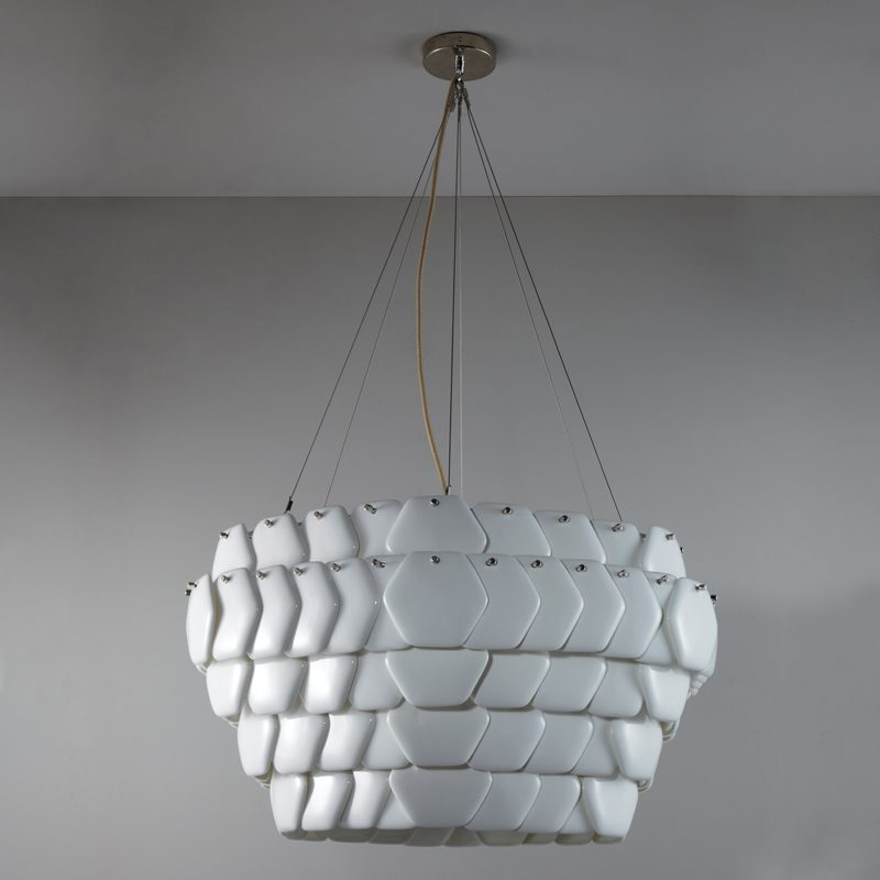 Original Btc Cranton Hexagonal Pendant Light White Off