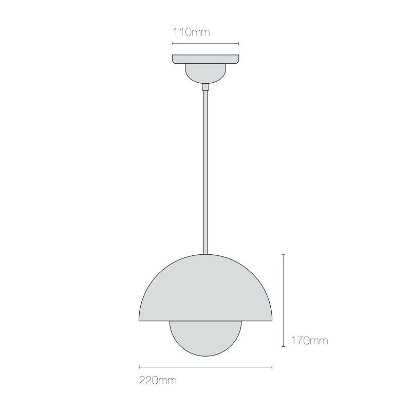 Original Btc Doma Small Pendant Light Line Drawing