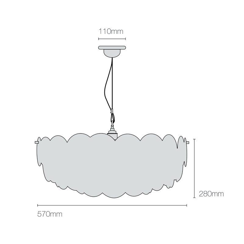 Original Btc Pembridge 3 Pendant Light Line Drawing