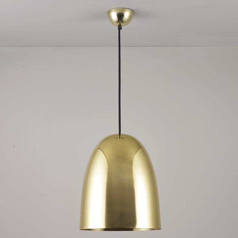 Original Btc Stanley Large Pendant Light Polished Brass Off