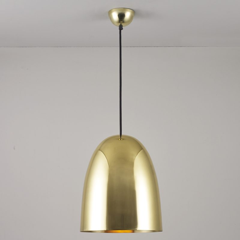 Original Btc Stanley Large Pendant Light Polished Brass On
