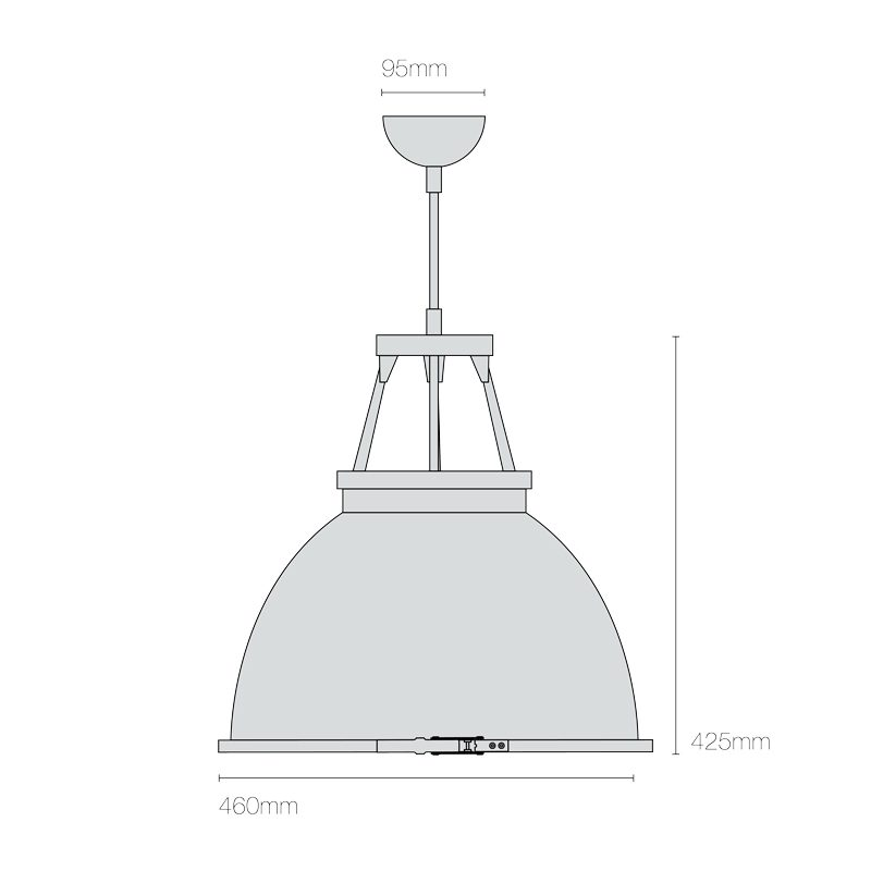 Original Btc Titan 3 Etched Glass Pendant Light Line Drawing
