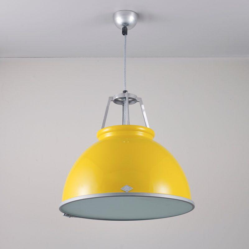 Original Btc Titan 3 Etched Glass Pendant Light Yellow White Off