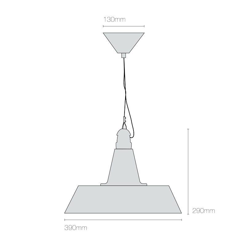 Original Btc Quay Pendant Light Line Drawing