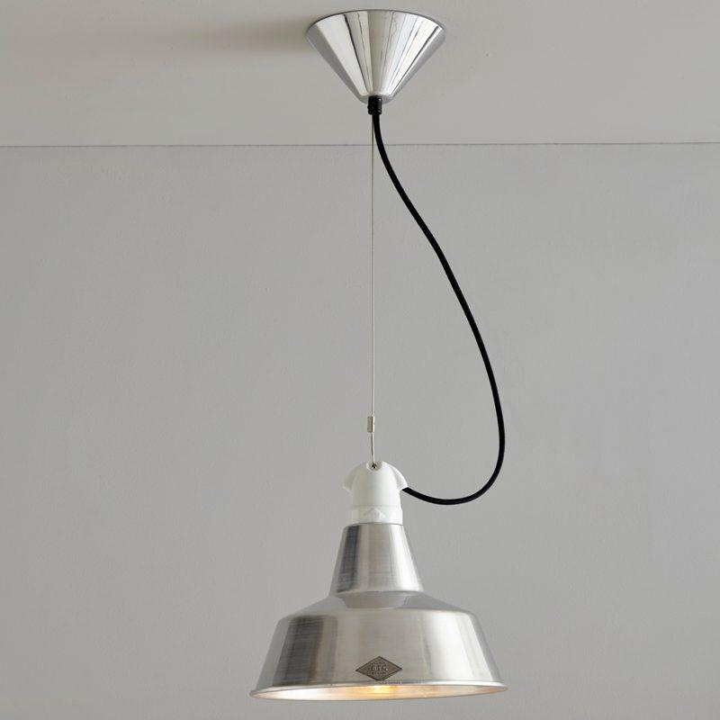 Original Btc Quay Small Pendant Light Aluminium On