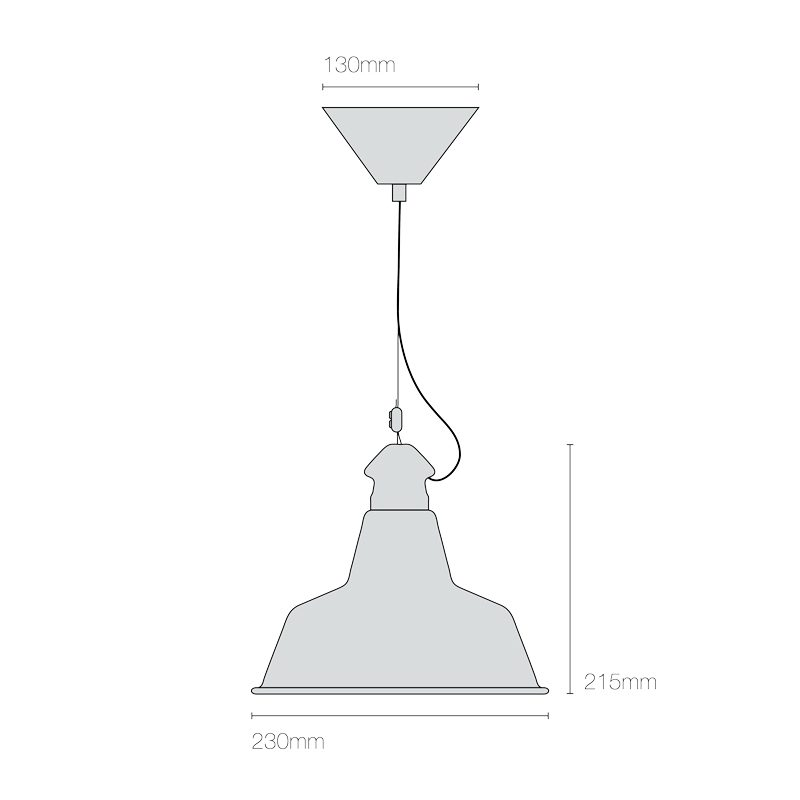 Original Btc Quay Small Pendant Light Line Drawing