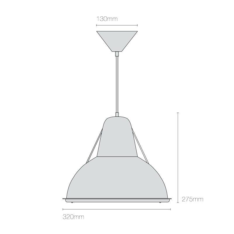 Original Btc Phane Prismatic Pendant Light Line Drawing