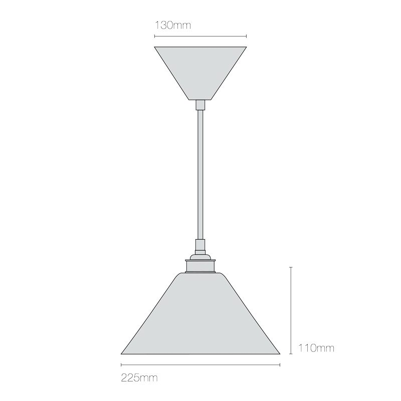 Original Btc Task Ceramic Pendant Light Line Drawing