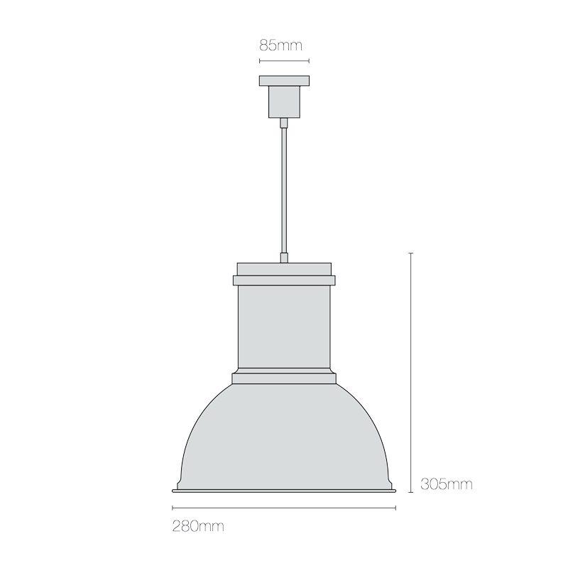 Original Btc Time 1 Pendant Light Line Drawing