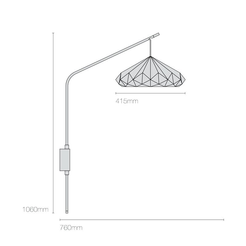 Original Btc Hatton 4 Wall Light Line Drawing