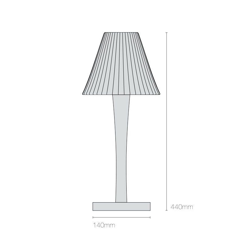 Original Btc Cecil Stem Table Light Line Drawing