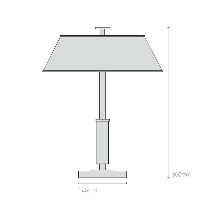 Original Btc Victor Table Lamp Line Drawing